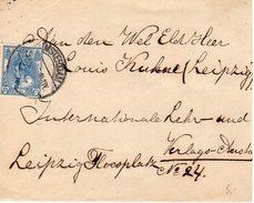 Brief Met NVPH 63 Van Amsterdam Naar Leipzig - Periode 1891-1948 (Wilhelmina)