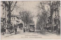 CPA - Nice (06) - Avenue Malausséna - Tramway - Transport Urbain - Auto, Autobus Et Tramway
