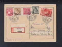 Czechoslovakia Registered PC 1945 Special Cancellation - Czechoslovakia