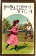 3 Cards C1900 Pub Huntley & Palmers Biscuits -  Lawn - Tennis Court - Sport Cards - More Than 100 Year Old VG - Trading Cards