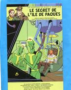 """""""le Secret De L'ile De Paques""""Black Et Mortimer"""" Carte Pub   -édition Dargaud - Affiches Sur Carte"""