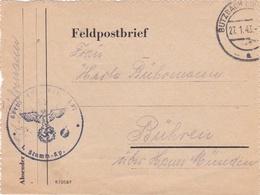 Feldpost WW2: Grenadier Ersatz Bataillon 771  P/m Butzbach 27.1.1943 - Letter Inside (T9A28) - Militaria