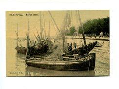 Cp - LE CROTOY (80) - Marée Basse (colorisée) - Le Crotoy