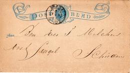 1893  Postblad G1  Zonder Randen Van BREDA Neer Schiedam - Postal Stationery
