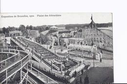4 Cpa Exposition Bruxelles 1910. Parc Des Attractions. Même Thême, Vues Différentes - Expositions