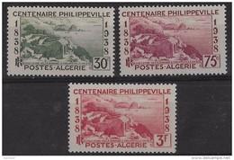 1938  Algérie N° 142  144 145   Nf**. Centenaire De Philippeville - Neufs