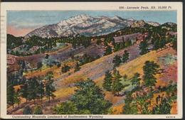 °°° 1209 - WY - LARAMIE PEAK - MOUNTAIN - 1953 With Stamps °°° - Laramie
