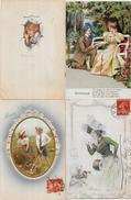 Lot N° 90 De 100 CPA Fantaisies Illustrateurs Déstockage Pour Revendeurs Ou Collectionneurs  PORT GRATUIT FRANCE - Postales