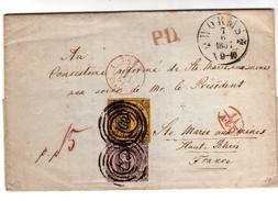 Lettre De WORMS Datée 1857
