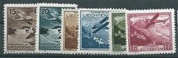 Liechtenstein, Posta Aerea, UNIF 1/6, Gibbons 110/115, Scott C1/6 **