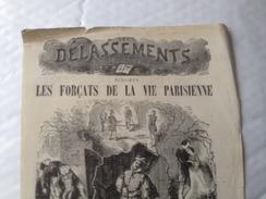 Les Délassements Illustrés, Les Forçats De La Vie Parisienne, Vers 1900, Publicité - Publicités