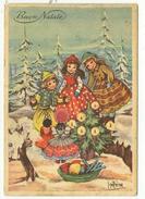 """Cartolina """"Buon Natale"""" Con Bambini - Viaggiata 1955 - Other"""