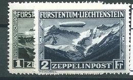 Liechtenstein, Posta Aerea, UNIF 7/8, Gibbons 116/117, Scott C7/8 **