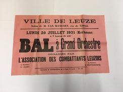 OUDE AFFICHE 1931 LEUZE - Affiches