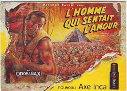 FANTAISIES . PUBLICITE . L'HOMME QUI SENTAIT L'AMOUR . NOUVEAU AXE INCA . - Advertising