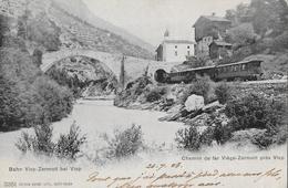VISP → Dampf-Zug Visp-Zermatt Bei Visp, Schöne Karte Anno 1903 - VS Wallis