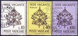 Vatikan - Zeit Zwischen Tod Von Papst Johannes XXIII. + Wahl Des Nachfolgers (MiNr. 429/31) 1963 - Gest. Used Obl.