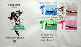 Faroe Islands  1977  MiNr.24-27 Fishing Boats / Bateaux De Pêche / Fischerboote FDC  ( Lot  6287 )MN COVER