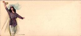 2 Cards  Mini Postcard    Illustr NANNY  Tennis - Kleding, Souvenirs & Andere