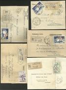 33 - GIRONDE / Lot De 5 Lettres Recommandées De LIBOURNE & CASTILLON LA BATAILLE / Années 50 - France