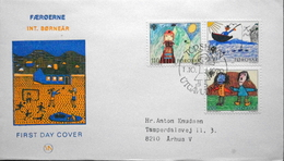Faroe Islands  1979   Children´s Drawings International Year Of The Child   MiNr.45-47       FDC   ( Lot  6287) MN COVER