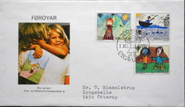 Faroe Islands  1979   Children´s Drawings International Year Of The Child   MiNr.45-47       FDC   ( Lot  6287)