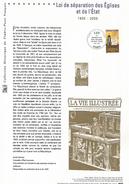 DOCUMENT 2005 LOI DE SEPARATION EGLISES ET ETAT - Documents Of Postal Services