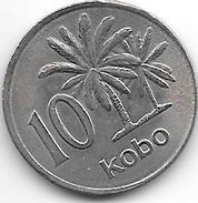 *nigeria 10 Kobo 1976  Km 10.1   Xf+ - Nigeria