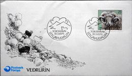 Faroe Islands  1979   MiNr. 42  Ram /  Widder      FDC   ( Lot  6287)