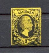 German States Sachsen 1851 No6