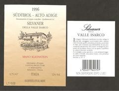 ITALIA - Etichetta Vino SILVANER DELLA VALLE ISARCO Doc 1996 Cantina S. MADDALENA Bianco Del TRENTINO-ALTO ADIGE - Vino Bianco