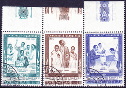 Vatikan - Heiligsprechung Der 22 Märtyrer Von Uganda (MiNr. 471/6) 1965 - Gest. Used Obl.