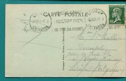 M9 :  KRAG 2 G TEXTE LISIEUX TAD 29.VIII 1932 LISIEUX SUR PASTEUR VERT 30 C N° 174 - Marcophilie (Lettres)