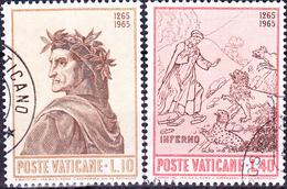 Vatikan -  Dante Alighieri (MiNr. 477/80) 1965 - Gest. Used Obl.