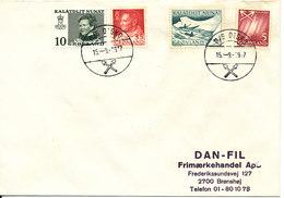 Greenland Cover Sent To Denmark SHIPCANCEL M/S DISKO 15-9-1977 - Groenland