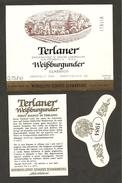 ITALIA - Etichetta Vino TERLANER WEISSBURGUNDER Doc 1984 Cantina WEINHELLEREI SCHLOSS Bianco Del TRENTINO-ALTO ADIGE - Vino Bianco