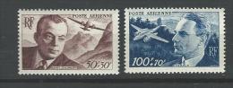 """FR Aerien YT 21 Et 22 """" Surtaxe Profit Entraide """" 1947 Neuf** - 1927-1959 Neufs"""
