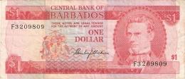 BARBADES   1 Dollar   ND (1973)   P. 29a - Barbados