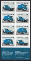 Faroe Islands MNH 2013 Booklet Pane Of 8 Postal Delivery Van, Truck