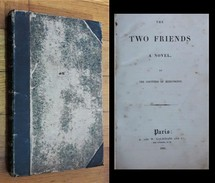COUNTESS OF BLESSINGTON. The Two Friends A Novel. 1835 - Libri Antichi