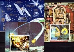 NASA-center Houston 1972 Sharjah Block 4,113+115 **/o 11€ US-Raumfahrt Apollo 17 Hoja Blocs M/s Space Sheets Bf VAE - Sharjah