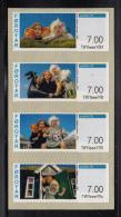 Faroe Islands MNH 2013 Strip Of 4 Vending Machine Stamps: Peter Troll