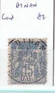COTES D'ARMOR - S/ 101 - 15c Bleu   Sage - Oblit CAD  A2  (  Dinan ) - Marcophilie (Timbres Détachés)