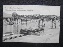 AK KORNEUBURG - STOCKERAU Stockerauer Donauarm Eisenbahnregiment Ca.1915 // D*22883 - Korneuburg