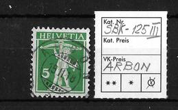 1909-1933 TELLKNABE MIT ARMBRUST→ SBK-125 III, ARBON 15.II.18 - Gebraucht
