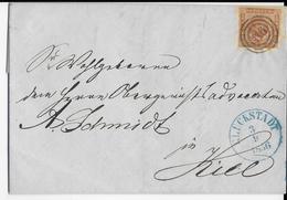 1856 - SCHLESWIG (ADMINISTRATION DANOISE) - LETTRE De GLÜCKSTADT Avec N° 116  => KIEL
