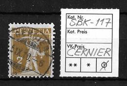 1909-1933 TELLKNABE MIT ARMBRUST→ SBK-117, CERNIER 6.IX.10 - Gebraucht