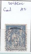 COTES D'ARMOR - S/ 101 - 15c Bleu   Sage - Oblit CAD  A2   (  Loudeac ) - Marcophilie (Timbres Détachés)