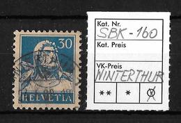 1914-1933 TELLBRUSTBILD → SBK-160, WINTERTHUR 24.I.28 - Gebraucht
