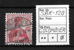 1909 HELVETIA BRUSTBILD → SBK-120, COLOMBIER 13.IX.09 - Gebraucht